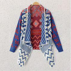 2014 outono inverno padrão geométrico mulheres casaco de malha camisola da senhora da forma roupas Cardigan ombros marca de Poncho malhas em Cardigãs de Roupas e Acessórios Femininos no AliExpress.com   Alibaba Group