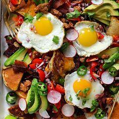 Pancake Nachos With Spicy Breakfast Sausage & Pico De Gallo via @feedfeed on https://thefeedfeed.com/thedelicious/pancake-nachos-with-spicy-breakfast-sausage-pico-de-gallo