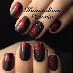Beautiful nails 2017, Cat eye nails, Festive cat eye nails, Hardware nails, Ideas of matte nails, Maroon nails, Matte nails with glossy pattern, Matte short nails