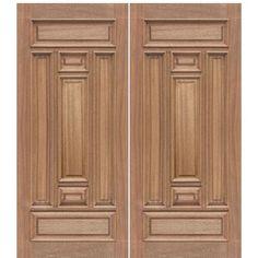 Wooden Front Door Design, Wooden Double Doors, Modern Wooden Doors, Double Door Design, Double Front Doors, Wooden Front Doors, Modern Door, Front Entry, Wood Doors