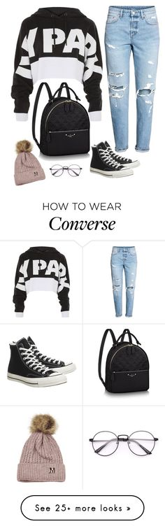 """Untitled #711"" by emily147147 on Polyvore featuring Topshop and Converse"