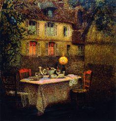 Henri Le Sidaner - The Table, Gerberoy