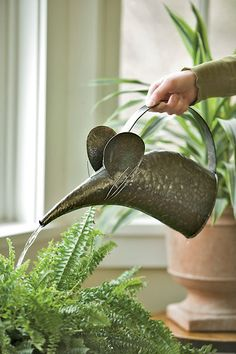 Mouse Watering Can $24.95  So cute!