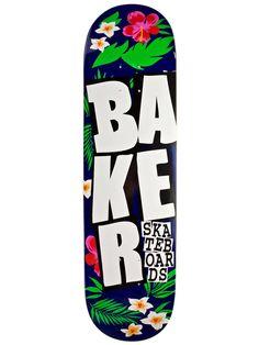 "Baker Stacked Floral Blue White 8.125"""