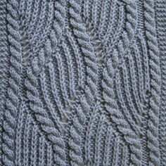 Knit Scarf Pattern: Brioche and Traveling Cable Knitting Scarf Pattern