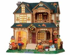 Lemax Village~Harvest Crossing~Winslow House with Fall decorations~ BNIB~Retired