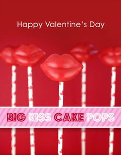 Yummy AND cute! big kiss, valentine cake, cake frosting, lip cake, sweet treats, kiss cake, cake pops, candy cakes, cakepop