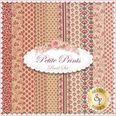"Petite Prints 10 FQ Set - Pearl by French General for Moda Fabrics: Petite Prints is a collection by French General for Moda Fabrics. 100% Cotton. This set contains 10 fat quarters, each measuring approximately 18"" x 21"""