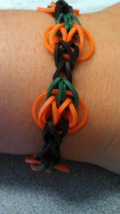 Rainbow loom pumpkin bracelet