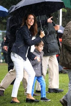 Danish Princess Marie attending as a protector at the Toender Festival 2014  with her son Prince Henrik  31.08.2014.