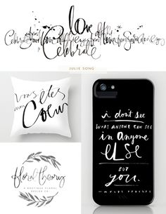 Lettering Artist: Julie Song - feature besotted blog