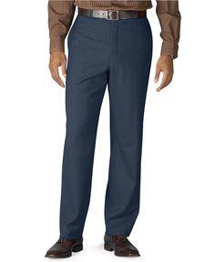 LAUREN Ralph LAUREN Total COMFORT Pants TROUSERS Navy BLUE Wool FLAT Front 38 32 #LaurenRalphLauren #DressFlatFront