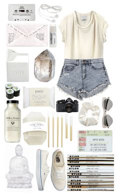 """""""Your fake."""" by leasemadison ❤ liked on Polyvore featuring 3.1 Phillip Lim, Mykita, Topshop, CASSETTE, KEEP ME, BIA Cordon Bleu, Toast, Lalique, Vans and CB2"""