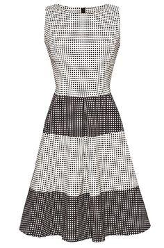Kariertes Kleid mit Streifen