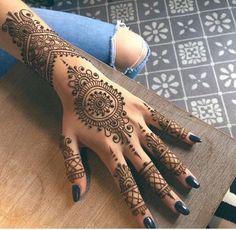 Henna bracelet and back of hand