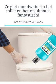 Wie had gedacht dat je mondwater in het toilet kunt gieten!