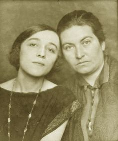 Chilean poetress Gabriela Mistral and friend, russian-argentinian actress Berta Singerman. Courtesy of Gabriela Mistral museum . Vicuña- Chile.