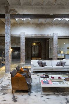 #Home #interior #loft #industrial #livingroom #beautiful #space