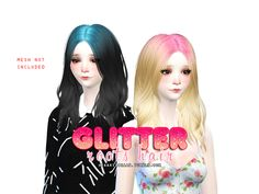 sims 4 mods ~ glitter roots hair