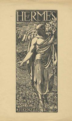 fabriciusitalicus: Adolfo De Carolis (1874-1928). Hermes. 1904.