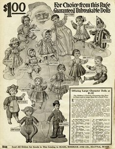 Vintage Dolls... 1916 Free Printable Catalogue Pages ~ Unbreakable Character Dolls