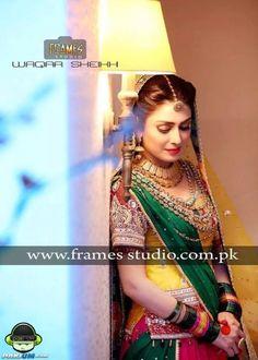 Ayeza Khan and Danish Taimoor's Mayun and Mehndi (Pictures) Asian Style Dress, Asian Wedding Dress, Pakistani Wedding Outfits, Pakistani Bridal, Pakistani Dresses, Bridal Outfits, Bridal Dresses, Pakistani Models, Pakistani Actress