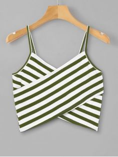 [HOT] 2019 Striped Overlap Cami Top In BLACK Style: Casual Shirt Length: Short Collar: Spaghetti Strap Pattern Type: Striped Thickness: Standard Seasons: Summer Material: Polyester Cute Tank Tops, Black Tank Tops, Striped Cami Tops, Summer Outfits, Casual Outfits, Cute Outfits, Casual Shirt, Trendy Fashion, Girl Fashion