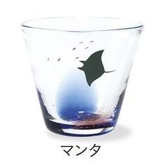 沖縄で漆職人さんが一筆一筆ていねいに描いた 海の風景グラスの会|フェリシモ