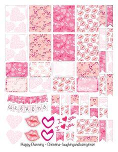 Free Valentine Planner Stickers Printable