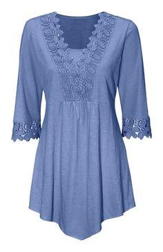 Lækre Cellbes Tunika Jeansblå Cellbes Tunika til Damer i luksus kvalitet