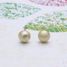 e0c9544b9db7 Gold Dome earrings with sterling silver post by shyshiny on Etsy