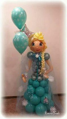 Elsa with plait balloon model