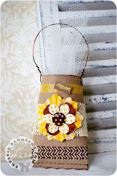 CRe8n4u Handmade Creations By LiSa: Recycled Toilet Paper Roll... Mini Gift Bag!!!