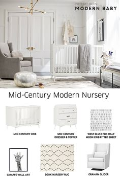 Mad for mid-century style? These pieces from our Modern Baby Collection instantly elevate baby's space and are the perfect addition to your registry. Create yours today! Baby Nursery Decor, Baby Bedroom, Baby Boy Rooms, Nursery Neutral, Baby Boy Nurseries, Baby Decor, Nursery Room, Girl Nursery, Nursery Ideas
