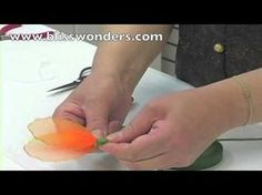 This video teaches how to make daffodil, the first flower of the Spring.