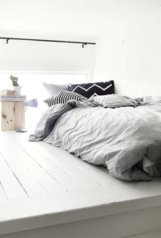 Nice bed tones & patterns. Just add 1x bright throw at the bottom of the bed