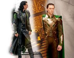 Loki in The Avengers and Thor costume comparison.