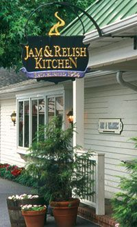 The Jam & Relish Kitchen | Kitchen Kettle Village | Lancaster, PA ~ You can watch the Amish ladies making the products!  So delicious!