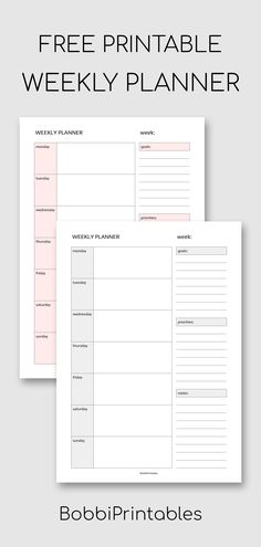 Weekly Planner Printable Free Simple Weekly Planner Printable Get more photo about subject relate. To Do Planner, College Planner, Study Planner, Free Planner, School Planner, Planner Diy, Project Planner, College Tips, Planner Inserts