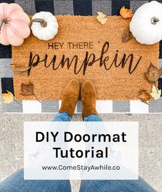 Modern Farmhouse Style, Farmhouse Style Decorating, Porch Decorating, Fall Doormat, Do It Yourself Projects, Welcome Mats, Transfer Paper, Clear Acrylic, Cricut
