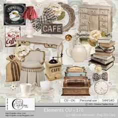 CAJOLINE-SCRAP: Elements CU - 178
