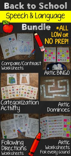 These are great BTS speech therapy activities that cover articulation, receptive, and expressive language areas.