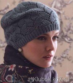 Шапка спицами Tulip Lace Hat by Julie Gaddy. | Клубок