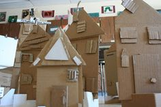 Art Project Girl: Recycled Cardboard City