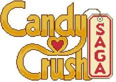 """Grille de Kalys - Point de Croix """"Candy Crush Saga"""" - Envoi Mail"""