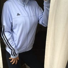 Light blue adidas zip up jacket Fits like small great condition tag says medium ❤️ All items bought ships the same day or the next day at the latest. ❤️ Make an offer through the offer button only please ❤️All items are in great like new condition unless stated otherwise. ❌No trades and I only sell on poshmark Adidas Jackets & Coats