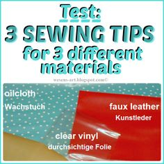Test: 3 Sewing Tips for 3 different materials