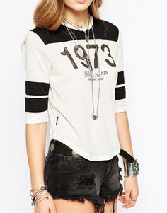 Image 3 of Pepe Jeans Raglan T-Shirt With 1973 Logo Pepe Jeans, Black b4049a4ce1ac