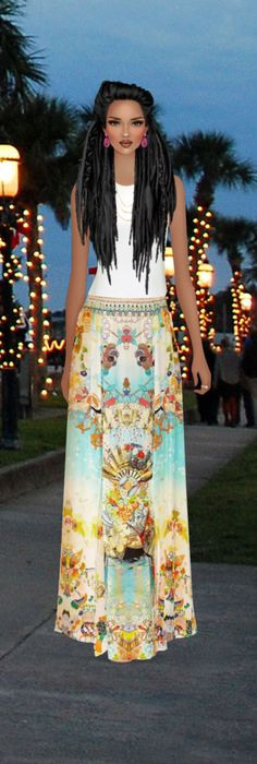 Cover Model, Tie Dye Skirt, Floral, Skirts, Outfits, Fashion, Sketch, Moda, Skirt