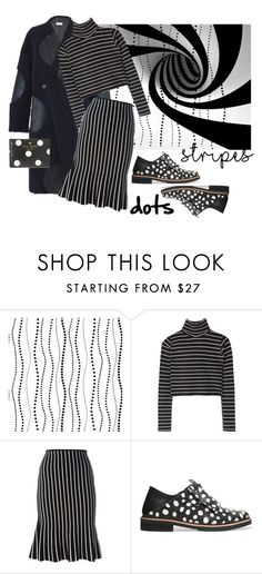 """""""Stripes and Dots"""" by consuelor on Polyvore featuring Mode, York Wallcoverings, Anne Vest, J.W. Anderson, McQ by Alexander McQueen und Kate Spade"""